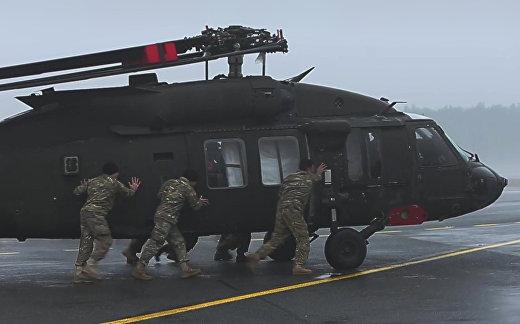 «Черные ястребы» приземлились в Латвии