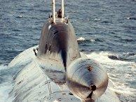 Буль с буксируемой антенной внутри на хвостовом оперении подводной лодки проекта 971 «Щука-Б»