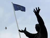 Флаг ЕС в Дублине, Ирландия