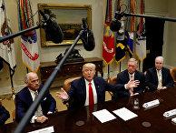 Президент США Дональд Трамп во время встречи с медицинскими страховыми компаниями в Белом доме
