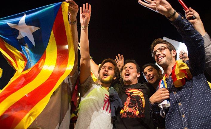 Горожане после досрочных выборов в парламент Каталонии