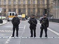 Ситуация на месте теракта у британского парламента