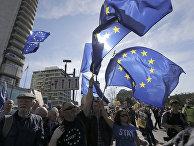 Демонстрация сторонников Евросоюза в Лондоне