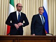 Министр иностранных дел РФ Сергей Лавров и министр иностранных дел Италии Анджелино Альфано