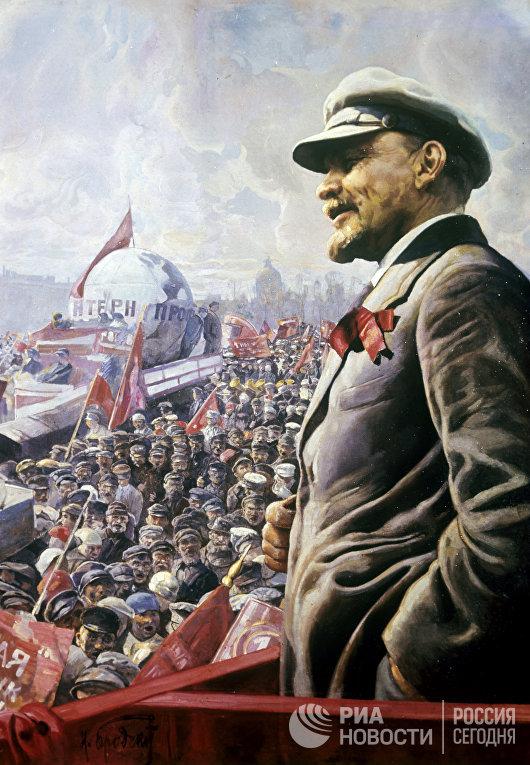 """Картина """"В.И. Ленин на трибуне 1 мая 1920 года"""""""