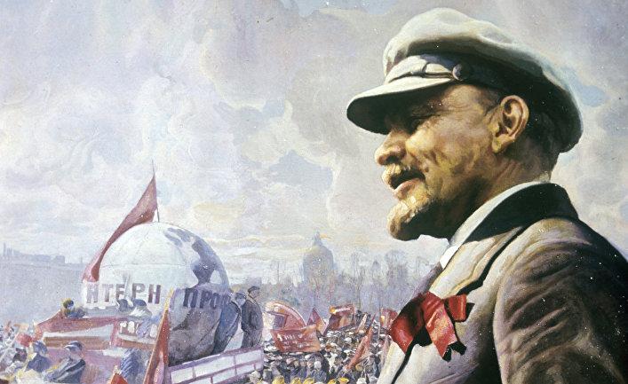 Картина «В.И. Ленин на трибуне 1 мая 1920 года»