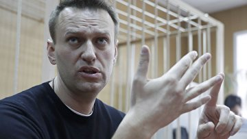 Алексей Навальный на заседании Тверского районного суда города Москвы