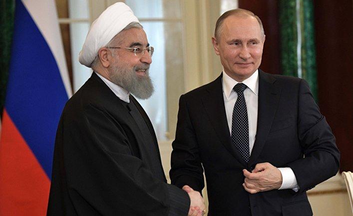 Президент РФ Владимир Путин и президент Исламской Республики Иран Хасан Роухани