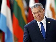Премьер-министр Венгрии Виктор Орбан на саммите ЕС