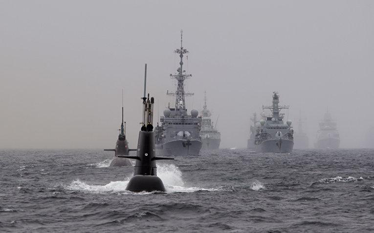 Учения НАТ в Северном море в Норвегии