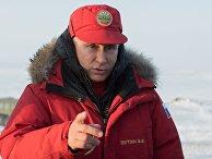 Президент РФ Владимир Путин во время посещения острова Земля Александры