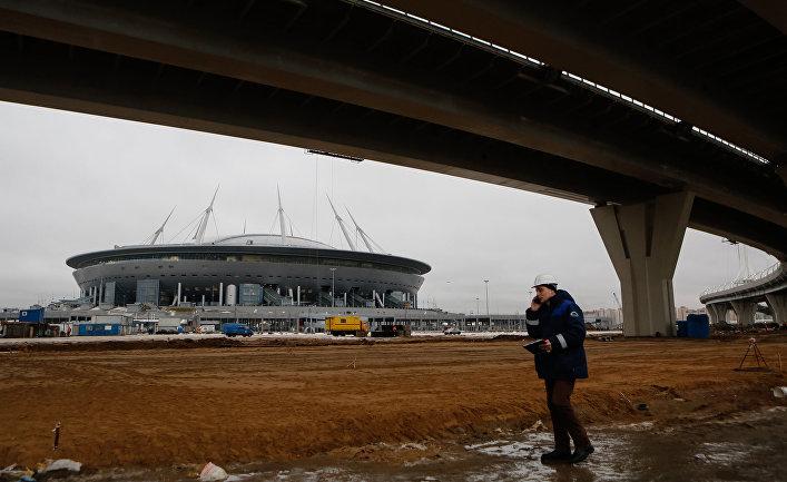 Строительство стадиона «Зенит-Арена» в Санкт-Петербурге