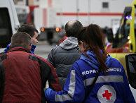 Пострадавший в результате взрыва в метро Санкт-Петербурга