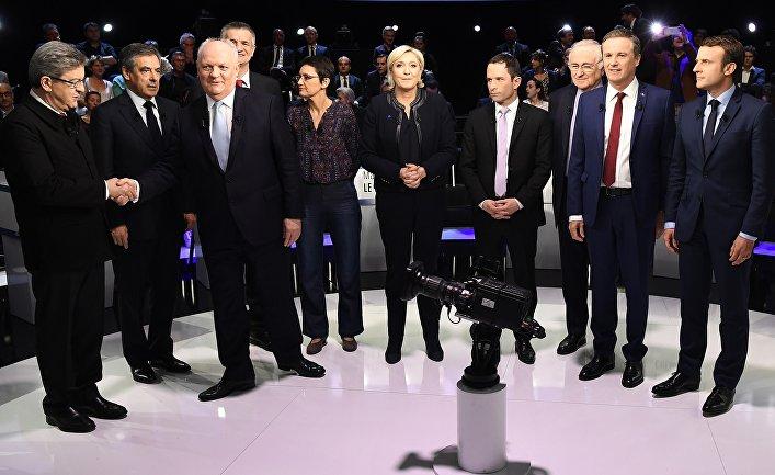 Предвыборные дебаты на французском телеканале