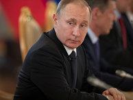 Президент России Владимир Путин в московском Кремле