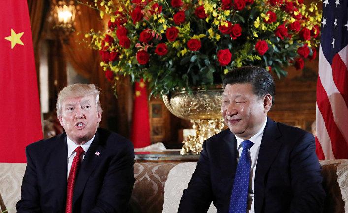 Президент США Дональд Трамп и председатель КНР Си Цзиньпин