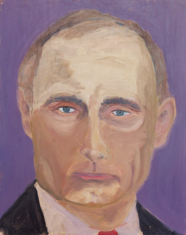 Владимир Путин, картина Джорджа Буша