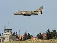 Самолет сирийских военно-воздушных сил на аэродроме «Шайрат»