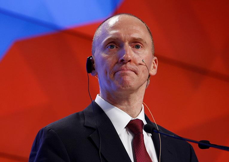 Картер Пейдж во время своей лекции в Москве