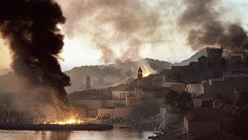 Город Дубровник во осады. 1991 год