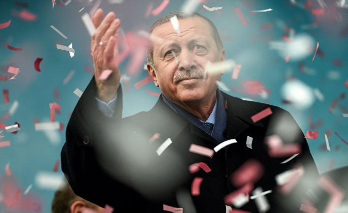 Президент Турции Реджеп Тайип Эрдоган в Стамбуле