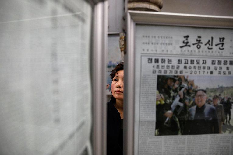Жители Пхеньяна в метро