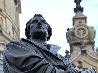 Памятник Мартину Лютеру в Дрездене