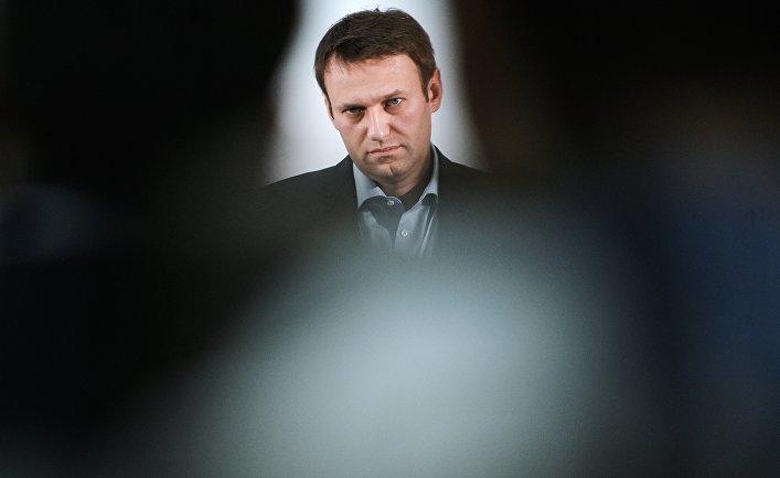 Оппозиционный политик Алексей Навальный