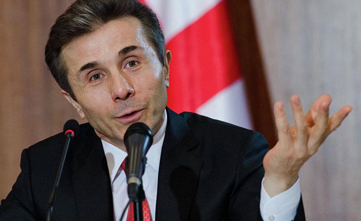 Премьер-министр Грузии Бидзина Иванишвили выступает на пресс-конференции