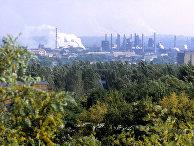 Вид на Донецкий металлургический завод