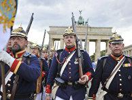 28 августа 2009. Актеры в прусской военной форме в Берлине
