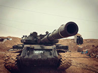 Бойцы сирийской армии во время наступления на город Хальфая на севере сирийской провинции Хама