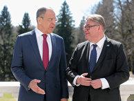 Министр иностранных дел РФ Сергей Лавров и глава МИД Финляндии Тимо Сойни