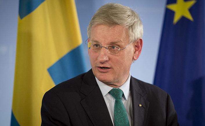 Глава МИД Швеции Карл Бильдт
