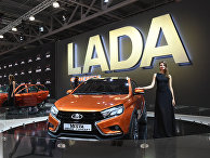 Автомобиль LADA Vesta на Московском международном автомобильном салоне-2016