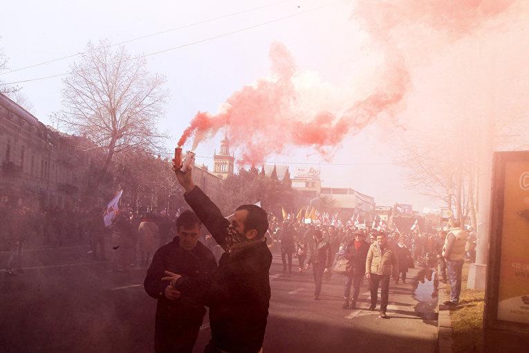 Акция протеста в Тбилиси, Грузия
