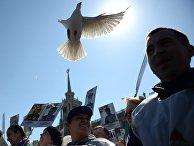 Участники марша «Бессмертный полк» в Екатеринбурге