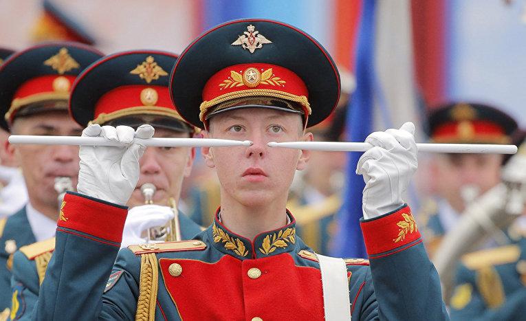 Российский военный оркестр на Красной площади