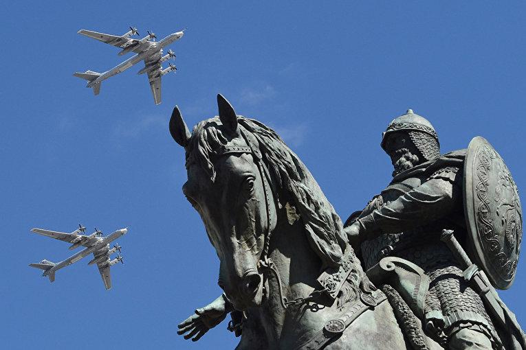 Российские стратегические бомбардировщики Ту-95МС