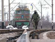 Захваченный радикалами поезд в Донецкой области