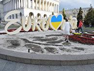 В Киеве вытоптали клумбу с символикой Евровидения