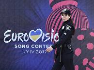 Полицейский патруль в предверии «Евровидения» в центре Киева
