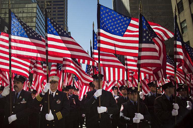 Парад в День святого Патрика в Нью-Йорке