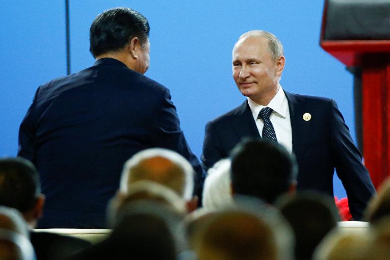 Председатель КНР Си Цзиньпин и президент России Владимир Путин