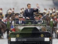 Новый президент Франции Эммануэль Макрон в Париже