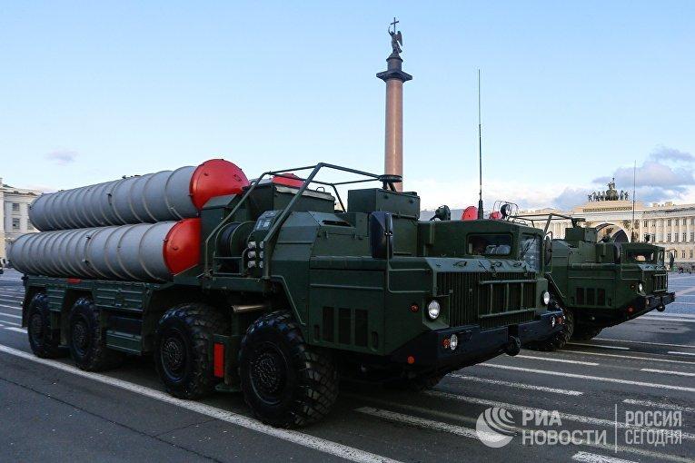 Репетиция парада Зенитный ракетный комплекс С-400 «Триумф» Санкт-Петербурге