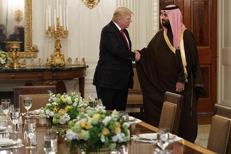 Президент США Дональд Трамп и министр обороны Саудовской Аравии Мухаммед бен Салман