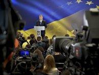 Президент Украины Петр Порошенко во время пресс-конференции. 14 мая 2017 года