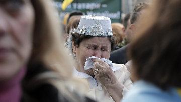 Митинг, посвященный 72-й годовщине депортации крымских татар в Киеве
