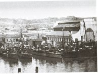 Русские миноносцы в гавани Порт-Артура. 1904 год